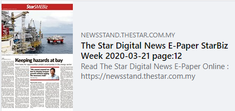 Newspaper Publication in The Star, Malaysia largest paid English newspaper