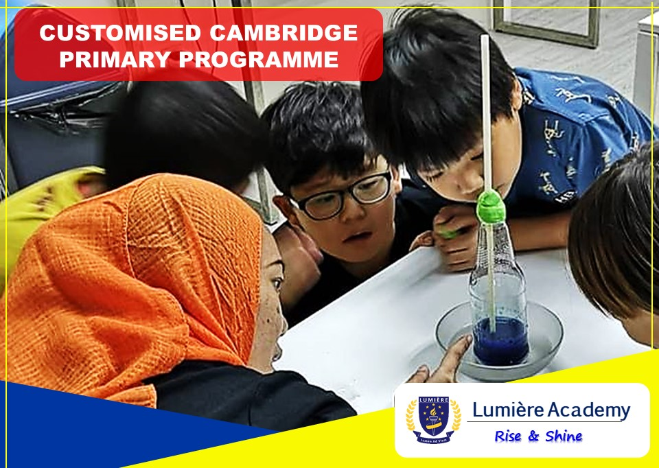 Customised Cambridge Primary Programme at Lumiere Academy Homeschool Centre, Ara Damansara, PJ Petaling Jaya, Selangor, Malaysia